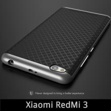 Чехол-накладка U-Case для смартфона Xiaomi RedMi 3, iPaky, бампер, накладка, резина, термополиуретан, TPU, пластиковая рамка, рисунок в клетку, серый, серебряный, золотой, бронзовый, розовое золото, Киев