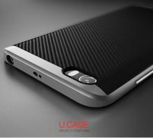 Чехол-накладка U.Case для смартфона Xiaomi Mi5, рисунок «под карбон», термополиуретан, чёрный, тёмно-серый, серебряный, золотой, розовое золото, Киев