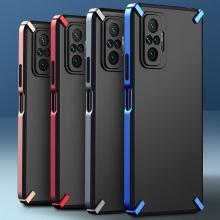 Чехол-накладка X-4 Series для смартфона Xiaomi Redmi Note 10 Pro / Xiaomi Redmi Note 10 Pro Max, полупрозрачный поликарбонат с серым оттенком, рама из цветного поликарбоната, дополнительная защита углов смартфона, накладка на кнопки регулировки громкости, серый, синий, красный,  розовый, Киев
