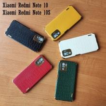 Чехол-накладка X-Case с покрытием под крокодиловую кожу для смартфона Xiaomi Redmi Note 10 / Xiaomi Redmi Note 10S, противоударный бампер, термополиуретан, искусственная кожа, рама из пластика, защита углов смартфона «воздушными подушками», в заднюю панель встроена накладка для защиты блока камер, накладка на кнопки регулировки громкости, двойное отверстие для крепления ремешка, металлический шильдик X-Cas, чёрный, красный, зелёный, белый, светло коричневый, Киев