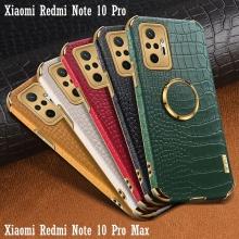 Чехол-накладка X-Case с покрытием под крокодиловую кожу для смартфона Xiaomi Redmi Note 10 Pro / Xiaomi Redmi Note 10 Pro Max, противоударный бампер, искусственная кожа, рама из пластика, защита углов смартфона «воздушными подушками», в заднюю панель встроена накладка для защиты блока камер, накладка на кнопки регулировки громкости, двойное отверстие для крепления ремешка, металлический шильдик X-Case, в комплект входит съёмное кольцо для пальца, чёрный, красный, зелёный, белый, светло коричневый, Киев