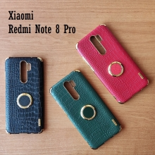 Чехол-накладка X-Case с покрытием под крокодиловую кожу для Xiaomi Redmi Note 8 Pro, противоударный бампер, термополиуретан, искусственная кожа, рама из пластика, защита углов смартфона «воздушными подушками», в заднюю панель встроена накладка для защиты блока камер, накладка на кнопки регулировки громкости, двойное отверстие для крепления ремешка, металлический шильдик X-Case, в комплект входит съёмное кольцо для пальца, чёрный, красный, зелёный, белый, светло коричневый, Киев