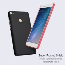 Чехол Nillkin + плёнка для смартфона Xiaomi Mi Max 2, противоударный бампер, рифлёный пластик, чёрный, белый, золотой, красный, Киев