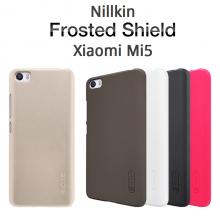 Чехол Nillkin + плёнка для Xiaomi Mi5, бампер, пластик, чёрный, белый, золотой, красный, Киев