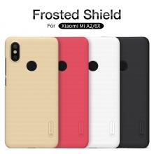 Чехол Nillkin + плёнка для смартфона Xiaomi Mi6X / Xiaomi Mi A2, противоударный бампер, рифлёный пластик, чёрный, белый, золотой, красный, защитная плёнка, Киев