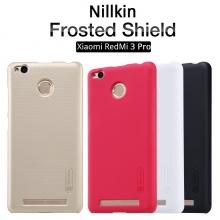 Чехол Nillkin + плёнка для Xiaomi RedMi 3 Pro / RedMi 3S, чехол-накладка, бампер, пластик, чёрный, белый, золотой, красный, Киев