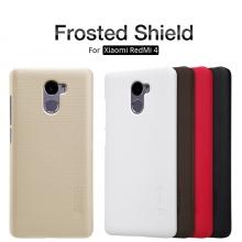 Чехол Nillkin + плёнка для смартфона Xiaomi RedMi 4, чехол-накладка, бампер, рифлёный пластик, чёрный, белый, золотой, красный, коричневый, Киев