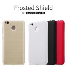 Чехол Nillkin + плёнка для смартфона Xiaomi RedMi 4X, чехол-накладка, противоударный бампер, рифлёный пластик, чёрный, белый, золотой, красный, Киев