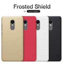 Чехол Nillkin + плёнка для смартфона Xiaomi RedMi 5, противоударный бампер, чехол-накладка, рифлёный пластик, чёрный, белый, золотой, красный, Киев