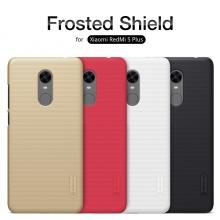 Чехол Nillkin + плёнка для смартфона Xiaomi RedMi 5 Plus, противоударный бампер, чехол-накладка, рифлёный пластик, чёрный, белый, золотой, красный, Киев