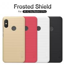 Чехол Nillkin + плёнка для смартфона Xiaomi Redmi 6 Pro / Xiaomi Mi A2 Lite, противоударный бампер, рифлёный пластик, чёрный, белый, золотой, красный, защитная плёнка, Киев