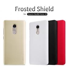 Чехол Nillkin + плёнка для смартфона Xiaomi RedMi Note 4, чехол-накладка, противоударный бампер, рифлёный пластик, чёрный, белый, золотой, красный, Киев