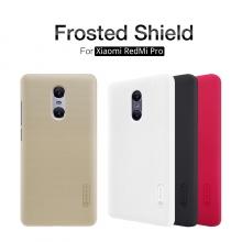 Чехол Nillkin + плёнка для Xiaomi RedMi Pro, бампер, пластик, чёрный, белый, золотой, красный, Киев