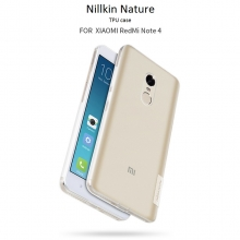 Чехол Nillkin (серия Nature) для смартфона Xiaomi RedMi Note 4, бампер, TPU, силикон, прозрачный, серый, жёлтый, заглушки, Киев
