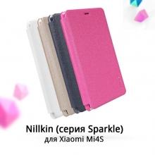 Чехол Nillkin (серия Sparkle) для Xiaomi Mi4S, смарт-чехол, чехол-книжка, горизонтальный флип, пластик, искусственная кожа, PU, sleep / wake function, чёрный, белый, золотой, розовый, Киев