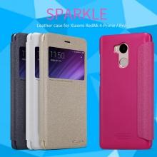 Чехол Nillkin (серия Sparkle) для смартфона Xiaomi RedMi 4 Prime, Xiaomi RedMi 4 Pro, смарт-чехол, чехол-книжка, горизонтальный флип, смарт-окно, sleep / wake, сон / пробуждение, пластик, искусственная кожа, PU, чёрный, белый, золотой, розовый, Киев