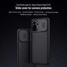 Чехол с защитной шторкой для камеры Nillkin CamShield для смартфона Xiaomi Redmi Note 10 / Xiaomi Redmi Note 10S, противоударный бампер, рифлёный пластик, шторка-слайдер для защиты камеры от механических воздействий, чёрный, синий, Киев