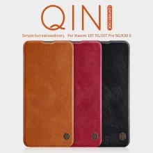 Чехол-книжка Nillkin (серия Qin) для смартфона Xiaomi Mi10T / Xiaomi Mi10T Pro / Xiaomi Redmi K30S, смарт-чехол, чехол-книжка, противоударный чехол, горизонтальный флип, пластик, искусственная кожа, PU, чёрный, коричневый, красный, Киев