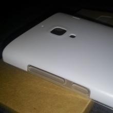 Двухслойный чехол-накладка для смартфона Xiaomi Red Rice / Red Rice 1S, бампер, фирменный чехол Xiaomi, двухслойный чехол, силикон (внутренний слой) + пластик (наружный слой), белый, Киев