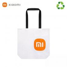 Эко-сумка Xiaomi Mi Eco Bag, модель: 33G10ZD2103H, материал Tyvek DuPont, высокая прочность на разрыв, высокая стойкость к многократным изгибам, водостойкость, химическая стойкость, термостойкость (сохраняет прочность и гибкость при – 75°, плавится при +135°), малый вес, стабильность размеров, застёжка-кнопка, две ручки, белая сумка с чёрными ручками и оранжевым логотипом или с серыми ручками и серым логотипом, фабричная упаковка, Киев