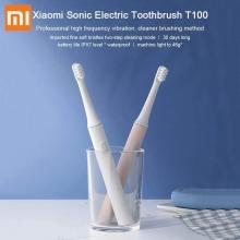 Электрическая зубная щётка Xiaomi Mijia Sonic Electric Toothbrush T100, MES603, ABS пластик, сменные чистящие насадки, 16500 колебаний щетинок в минуту, стандартный режим, режим мягкой чистки, влагозащита IPX7, щётку можно мыть в воде, зарядка до 100% за 4 ч, одного заряда хватает до 30 дней, коннектор зарядного устройства: microUSB, светодиодная индикация режимов работы и зарядки, белый, голубой, розовый, Киев
