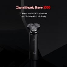 Электробритва Xiaomi MiJia Electric Shaver S500, 3 плавающие головки, система двойных лезвий для более чистого бритья, плавающая технология IFT для более комфортного бритья, сухое бритьё и влажное бритьё, влагозащита IPX7 (можно мыть под струёй воды),2 режима работы, турбо режим, мотор Mabuchi 260, время полной зарядки 1,5 часа хватает на 60 минут бритья, бритвой также можно пользоваться в процессе зарядки, USB Type-C, светодиодный дисплей, чёрный, Киев