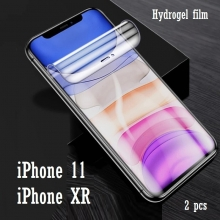 Гидрогелевая защитная плёнка для смартфона iPhone 11 / iPhone XR, в комплект входят 2 плёнки, бронированная плёнка, полноэкранная плёнка (закрывает экран смартфона полностью), клеится к экрану смартфона всей поверхностью, клеится без использования жидкости, самовосстанавливающаяся плёнка, не влияет на чувствительность сенсора, не искажает цвета, олеофобное покрытие, пластиковый держатель для точного позиционирования плёнки на экране, шпатель для разглаживания плёнки, Киев