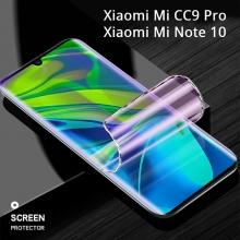 Гидрогелевая защитная плёнка для смартфона Xiaomi Mi Note 10 / Xiaomi Mi CC9 Pro, в комплект входят 2 плёнки, бронированная плёнка, полноэкранная плёнка (закрывает экран смартфона полностью), клеится к экрану смартфона всей поверхностью, клеится без использования жидкости, самовосстанавливающаяся плёнка, не влияет на чувствительность сенсора, не искажает цвета, олеофобное покрытие, пластиковый держатель для точного позиционирования плёнки на экране, шпатель для разглаживания плёнки, Киев