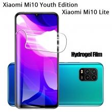Гидрогелевая защитная плёнка для смартфона Xiaomi Mi10 Youth Edition 5G / Xiaomi Mi10 Lite 5G (глянцевая или матовая), в комплект входят 2 плёнки, бронированная плёнка, полноэкранная плёнка (закрывает экран смартфона полностью), клеится к экрану смартфона всей поверхностью, самовосстанавливающаяся плёнка, не влияет на чувствительность сенсора, не искажает цвета, олеофобное покрытие, пластиковый держатель для точного позиционирования плёнки на экране, шпатель для разглаживания плёнки, Киев