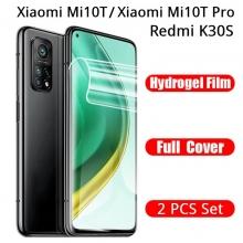 Гидрогелевая защитная плёнка для смартфона Xiaomi Mi10T / Xiaomi Mi10T Pro / Xiaomi Redmi K30S (глянцевая или матовая), в комплект входят 2 плёнки, бронированная плёнка, полноэкранная плёнка (закрывает экран смартфона полностью), клеится к экрану смартфона всей поверхностью, самовосстанавливающаяся плёнка, не влияет на чувствительность сенсора, не искажает цвета, олеофобное покрытие, пластиковый держатель для точного позиционирования плёнки на экране, шпатель для разглаживания плёнки, Киев