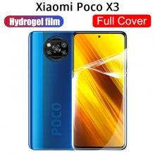 Гидрогелевая защитная плёнка для смартфона Xiaomi Poco X3, в комплект входят 2 плёнки, бронированная плёнка, полноэкранная плёнка (закрывает экран смартфона полностью), клеится к экрану смартфона всей поверхностью, клеится без использования жидкости, самовосстанавливающаяся плёнка, не влияет на чувствительность сенсора, не искажает цвета, олеофобное покрытие, пластиковый держатель для точного позиционирования плёнки на экране, шпатель для разглаживания плёнки, Киев