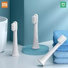 Комплект сменных насадок для электрической зубной щётки Xiaomi Mijia Sonic Electric Toothbrush T100 (3 шт.), модель: MBS302, специальная техника установки щетинок повышенной плотности (на 20% больше щетинок, чем у обычных зубных щёток), импортные мягкие щетинки с наконечником толщиной 0,01 мм, индивидуальная вакуумная упаковка каждой насадки, Киев