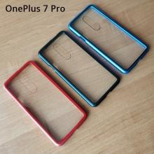 Магнитный чехол Luphie с задней стеклянной панелью для смартфона OnePlus 7 Pro, противоударный бампер, рама из магналия, сплав алюминия и магния, задняя панель из закалённого стекла, бронированное стекло, соединяются магнитами, 9H, не влияет на качество приёма / передачи сигнала, не мешает беспроводной зарядке, чёрный, синий, красный, Киев