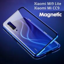 Магнитный чехол Luphie с задней стеклянной панелью для смартфона Xiaomi Mi9 Lite / Xiaomi Mi CC9, противоударный бампер, рама из магналия, сплав алюминия и магния, задняя панель из закалённого стекла, бронированное стекло, соединяются магнитами, 9H, не влияет на качество приёма / передачи сигнала, не мешает беспроводной зарядке, чёрный, синий, красный, Киев