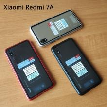 Магнитный чехол Luphie с задней стеклянной панелью для смартфона Xiaomi Redmi 7A, противоударный бампер, рама из магналия, сплав алюминия и магния, задняя панель из закалённого стекла, бронированное стекло, соединяются магнитами, 9H, не влияет на качество приёма / передачи сигнала, не мешает беспроводной зарядке, чёрный, серебряный, красный, синий, Киев