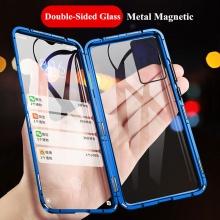 Магнитный чехол со стеклянными задней и передней панелями для смартфона Xiaomi Mi10T / Xiaomi Mi10T Pro / Xiaomi Redmi K30S, алюминиевая рама + задняя панель из стекла + передняя панель из стекла, чехол состоит из двух частей, которые соединяются несколькими магнитами, не влияет на качество приёма / передачи сигнала, чёрный, зелёный, синий, красный, серебряный, Киев