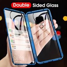 Магнитный чехол со стеклянными задней и передней панелями для Xiaomi Redmi Note 9 / Xiaomi Redmi 10X 4G, алюминиевая рама + задняя панель из стекла + передняя панель из стекла, чехол состоит из двух частей, которые соединяются несколькими магнитами, не влияет на качество приёма / передачи сигнала, чёрный, зелёный, синий, красный, серебряный, Киев