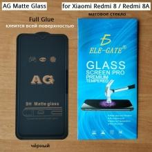 Матовое защитное стекло AG Matte Glass для смартфона Xiaomi Redmi 8 / Xiaomi Redmi 8A, показатель по минералогической шкале твёрдости 9H, в 3 раза более устойчиво к царапинам, чем обычная защитная плёнка, не влияет на чувствительность сенсора, антибликовое покрытие, олеофобное покрытие, набор для подклеивания краёв защитного стекла, liquid, Киев