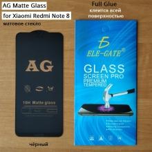 Матовое защитное стекло AG Matte Glass для смартфона Xiaomi Redmi Note 8, показатель по минералогической шкале твёрдости 9H, в 3 раза более устойчиво к царапинам, чем обычная защитная плёнка, не влияет на чувствительность сенсора, антибликовое покрытие, олеофобное покрытие, набор для подклеивания краёв защитного стекла, liquid, Киев