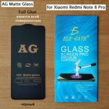Матовое защитное стекло AG Matte Glass для смартфона Xiaomi Redmi Note 8 Pro, показатель по минералогической шкале твёрдости 9H, в 3 раза более устойчиво к царапинам, чем обычная защитная плёнка, не влияет на чувствительность сенсора, антибликовое покрытие, олеофобное покрытие, набор для подклеивания краёв защитного стекла, liquid, Киев