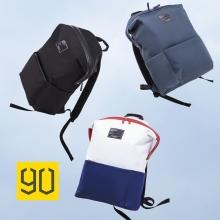 """Рюкзак 90 Points Lecturer Casual Backpack, водоотталкивающая ткань с полиамидным волокном, пятикратная стойкость к истиранию по сравнению с простым нейлоном, застёжка-молния, фиксирующаяся по краям кнопками с логотипом """"90"""", 3 кармана внутри, 3 кармана снаружи (один на молнии), большая вместимость, возможность доступа внутрь через молнию на боковой поверхности рюкзака, чёрный, синий, синий + белый с красными вставками, вес 375 г, Киев"""