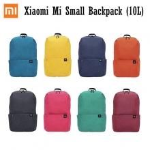 Рюкзак Xiaomi Mi Small Backpack (10 л), водоотталкивающий полиэстер, 4 кармана, застёжки-молнии группы компаний YKK (Япония), пластиковые пряжки ТМ Nx Lite от группы компаний ITW (США), удобные заплечные ремни, ручка для переноски рюкзака в руке, логотип Mi, чёрный, тёмно-синий, голубой, зелёный, жёлтый, оранжевый, бордовый, розовый, объём 10 л, Киев