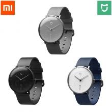 Смарт-часы Xiaomi MiJia Quartz Watch, кварцевые стрелочные часы, нержавеющая сталь 316L, натуральная итальянская кожа, 2 циферблата, закалённое стекло, защита от воды: 3 АТМ, шагомер, вибро уведомления при входящих звонках, автоматическая калибровка времени, таймер, будильник, Mi Home, диаметр: 40 мм, толщина: 11,9 мм, чёрный, серый, белый, Киев