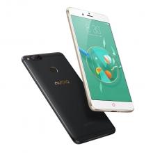 Смартфон ZTE Nubia Z17 Mini (4 + 64 Гб), металлический корпус, 2 SIM-карты, 2G GSM + 3G WCDMA + 3G CDMA + 4G LTE, Snapdragon 652, 4 Гб RAM + 64 Гб ROM, экран 5,2'' IPS 1920*1080, Gorilla Glass, двойная основная камера 13 MP, фронтальная камера 16 MP, аккумулятор 2950 мА/ч, сканер отпечатков пальцев, Wi-Fi, Bluetooth 4.2, FM Radio, GPS, OTG, NFC, USB Type-C, Nubia UI 4.0, Android 6.0.1, чёрный, чёрный с золотой окантовкой, золотой, красный, Киев