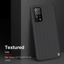 Текстурированный чехол-накладка Nillkin для смартфона Xiaomi Mi10T / Xiaomi Mi10T Pro / Xiaomi Redmi K30S, textured case, противоударный бампер, рифлёный пластик с нейлоновым волокном, рама из термополиуретана, логотип Nillkin, двойное отверстие для крепления ремешка, чёрный, Киев