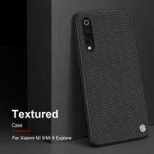 Текстурированный чехол-накладка Nillkin для смартфона Xiaomi Mi9, textured case, противоударный бампер, рифлёный пластик с нейлоновым волокном, рама из термополиуретана, логотип Nillkin, двойное отверстие для крепления ремешка, чёрный, Киев