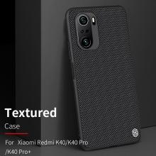 Текстурированный чехол-накладка Nillkin для смартфона Xiaomi Poco F3 / Xiaomi Redmi K40 / Xiaomi Redmi K40 Pro / Xiaomi Mi 11i, textured case, противоударный бампер, рифлёный пластик с нейлоновым волокном, рама из термополиуретана, логотип Nillkin, двойное отверстие для крепления ремешка, чёрный, Киев