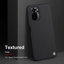 Текстурированный чехол-накладка Nillkin для смартфона Xiaomi Redmi Note 10 / Xiaomi Redmi Note 10S, textured case, противоударный бампер, рифлёный пластик с нейлоновым волокном, рама из термополиуретана, логотип Nillkin, двойное отверстие для крепления ремешка, чёрный, Киев