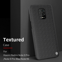 Текстурированный чехол-накладка Nillkin для смартфона Xiaomi Redmi Note 9 Pro / Xiaomi Redmi Note 9 Pro Max / Xiaomi Redmi Note 9S, textured case, противоударный бампер, рифлёный пластик с нейлоновым волокном, рама из термополиуретана, логотип Nillkin, двойное отверстие для крепления ремешка, чёрный, Киев
