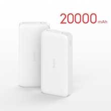 Внешнее зарядное устройство Xiaomi Redmi Power Bank (20000 мА/ч), номинальная ёмкость аккумулятора 20000 мА/ч (74 Вт/ч), USB Type-C, microUSB, USB Type-A, поддержка одновременной зарядки двух устройств, двусторонняя быстрая зарядка 18 Вт, автоматический подбор силы тока для различных устройств, поддерживает зарядку малой силой тока для Xiaomi Mi Band, беспроводных наушников, 9-уровневая защита от замыканий, перегрузок, перегрева, Киев